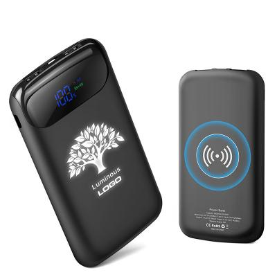 8000mah power bank Black wireless Charger power bank for mobilephone